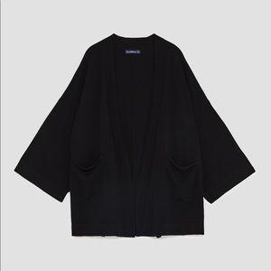 Zara Kimono style cardigan Black size small